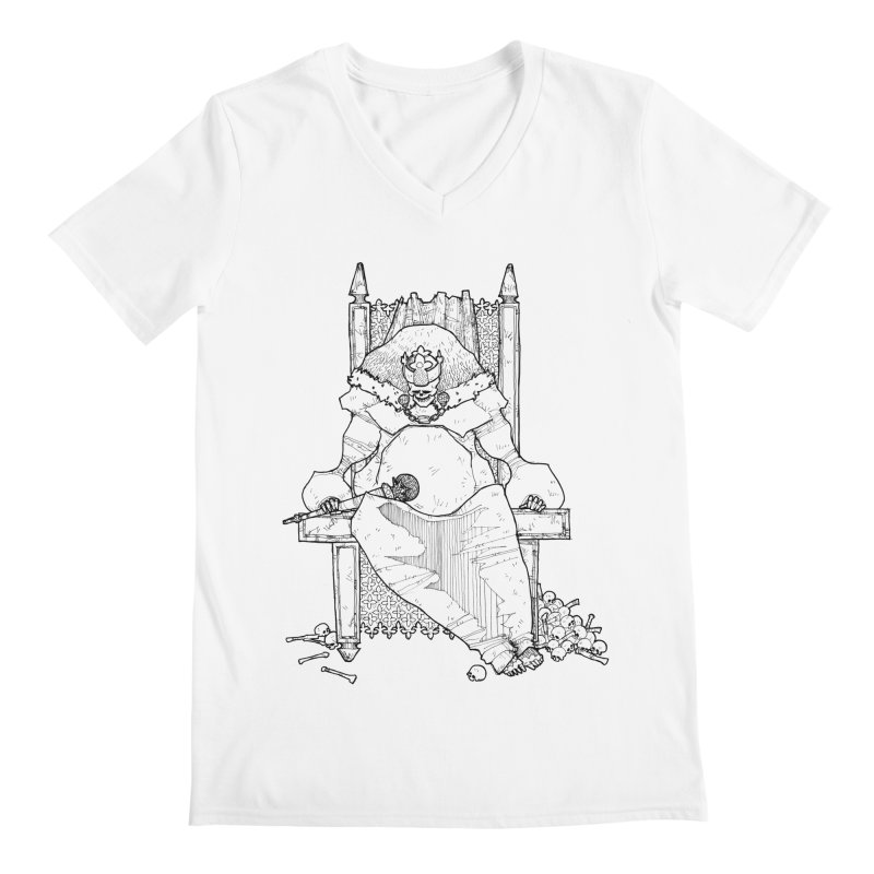 Fat King Men's V-Neck by Katiecrimespree's Ye Olde Shirt Shoppe