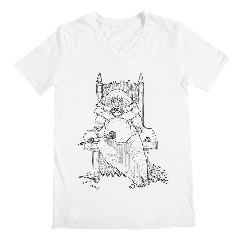 Fat King Men's Regular V-Neck by Katiecrimespree's Ye Olde Shirt Shoppe