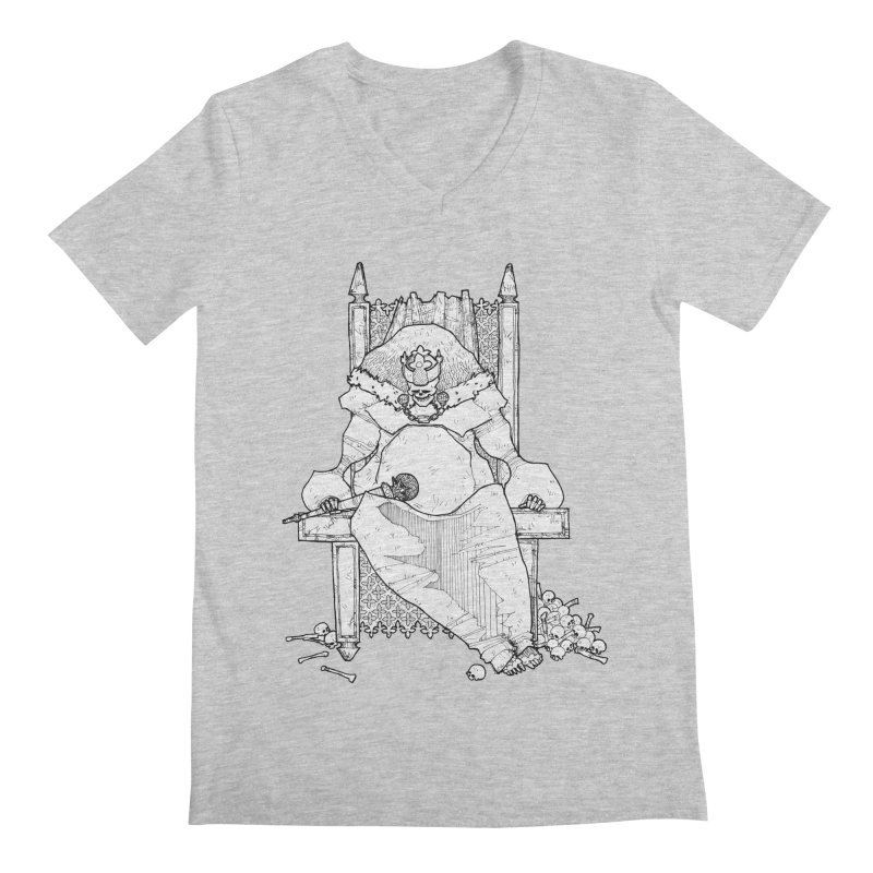 Fat King Men's Regular V-Neck by Katiecrimespree's Ye Olde Shirt Shoppe