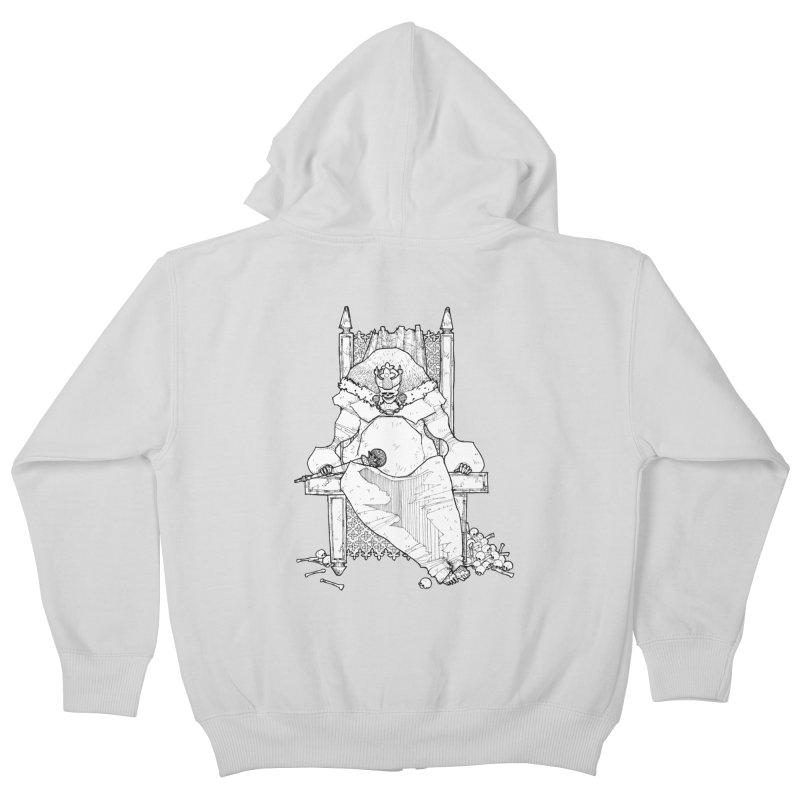 Fat King Kids Zip-Up Hoody by Katiecrimespree's Ye Olde Shirt Shoppe