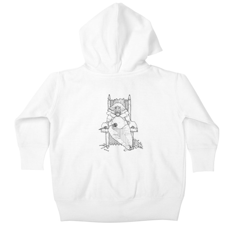 Fat King Kids Baby Zip-Up Hoody by Katiecrimespree's Ye Olde Shirt Shoppe