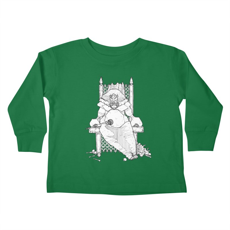 Fat King Kids Toddler Longsleeve T-Shirt by Katiecrimespree's Ye Olde Shirt Shoppe