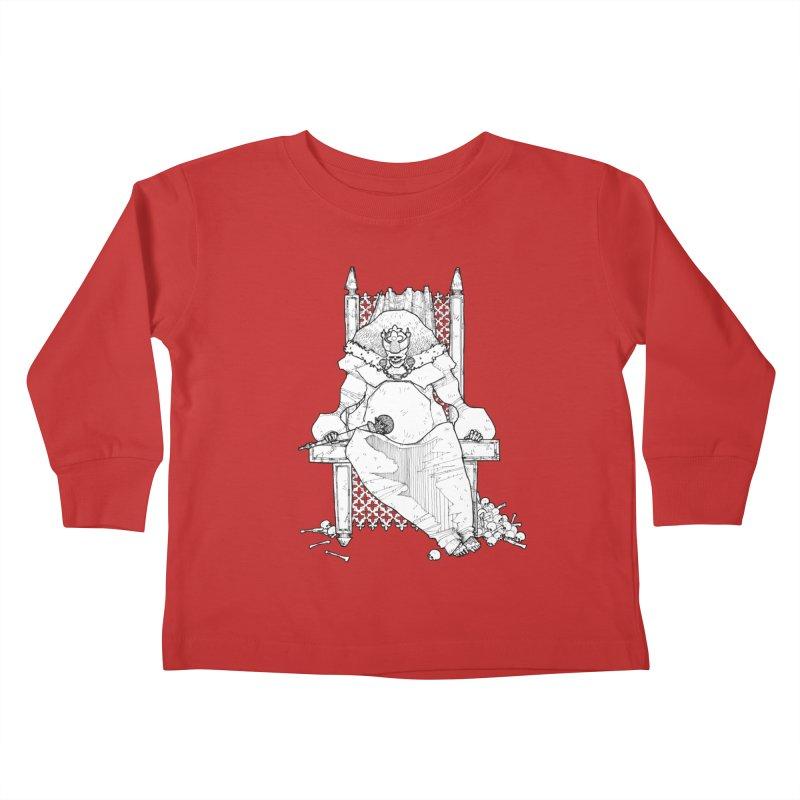 Fat King Kids Toddler Longsleeve T-Shirt by Katiecrimespree's Ye Olde Shirt Shoppe