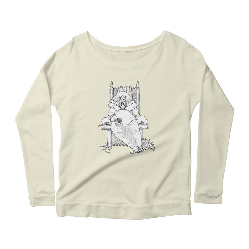 Fat King Women's Scoop Neck Longsleeve T-Shirt by Katiecrimespree's Ye Olde Shirt Shoppe