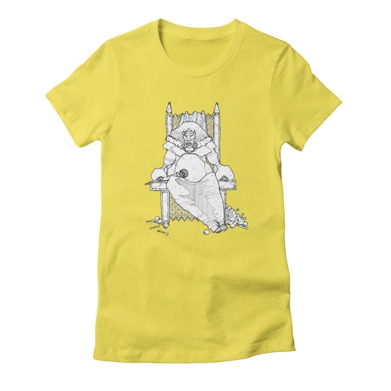 Fat King Women's Fitted T-Shirt by Katiecrimespree's Ye Olde Shirt Shoppe