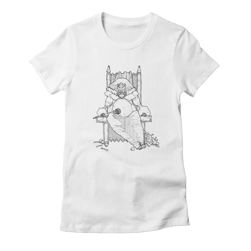 Fat King Women's Fitted T-Shirt by Katiecrimespree's Ye Olde Shirt Shoppe
