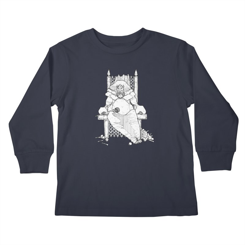 Fat King Kids Longsleeve T-Shirt by Katiecrimespree's Ye Olde Shirt Shoppe