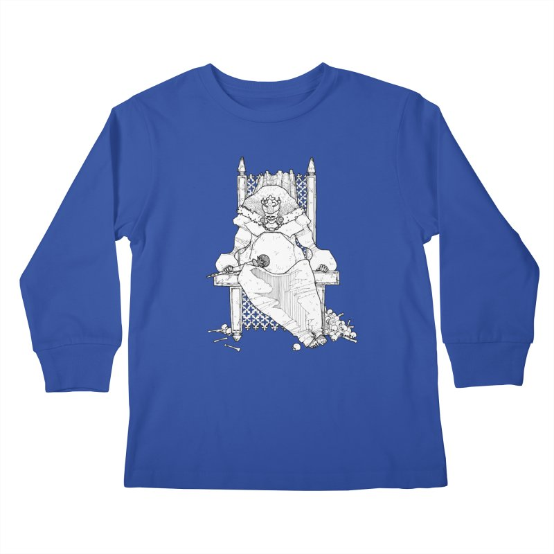 Fat King Kids Longsleeve T-Shirt by Katiecrimespree's Ye Olde Shirt Shoppe