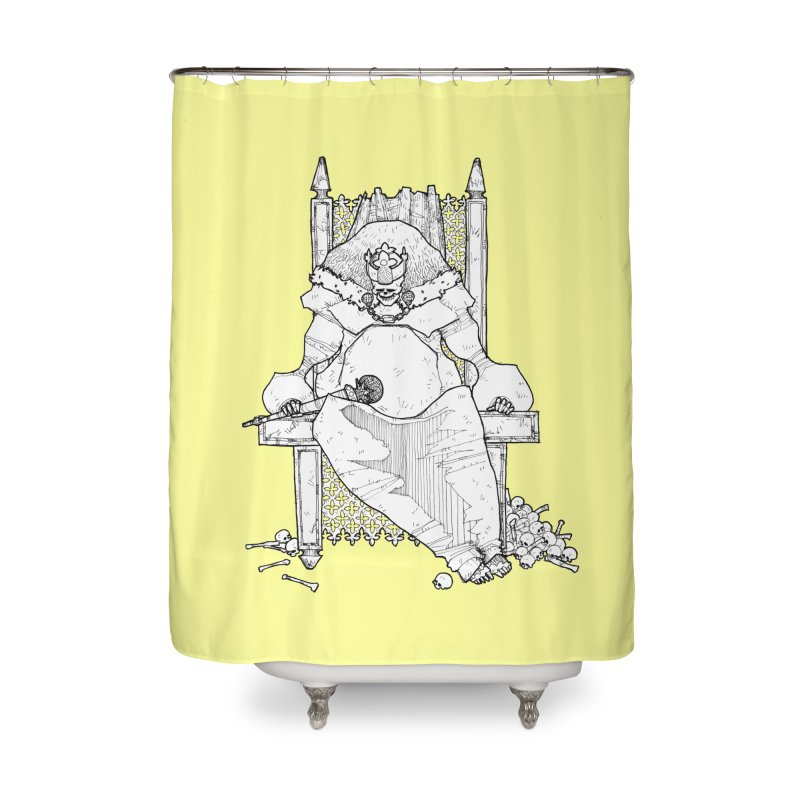 Fat King Home Shower Curtain by Katiecrimespree's Ye Olde Shirt Shoppe