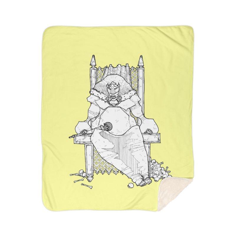 Fat King Home Sherpa Blanket Blanket by Katiecrimespree's Ye Olde Shirt Shoppe
