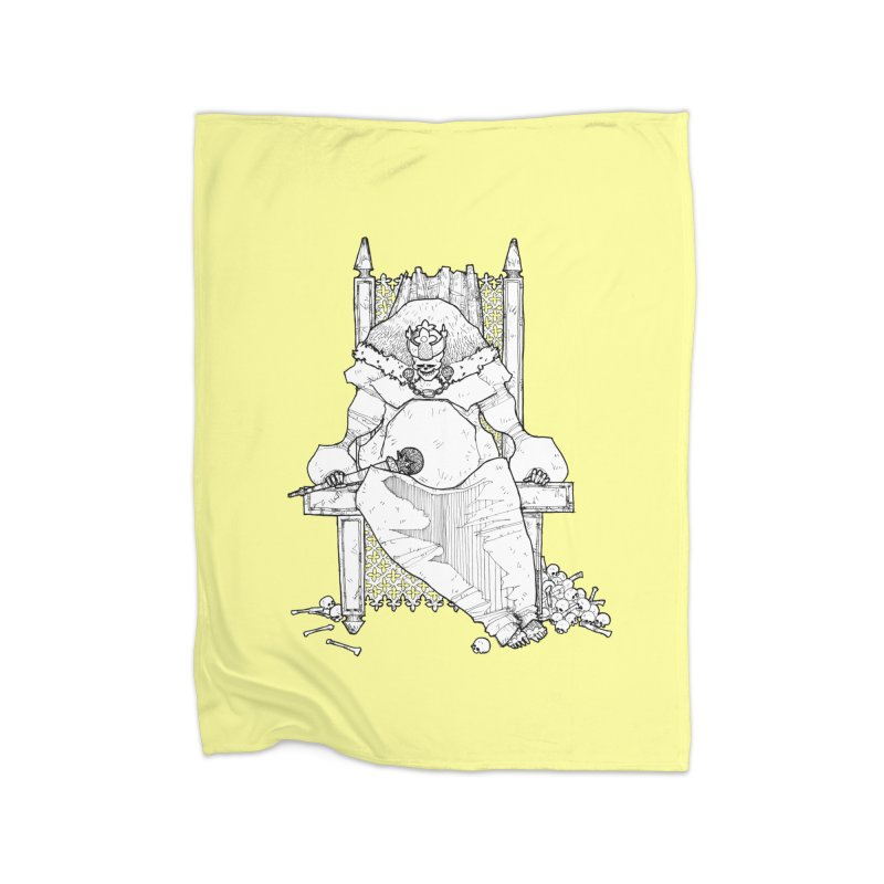 Fat King Home Blanket by Katiecrimespree's Ye Olde Shirt Shoppe
