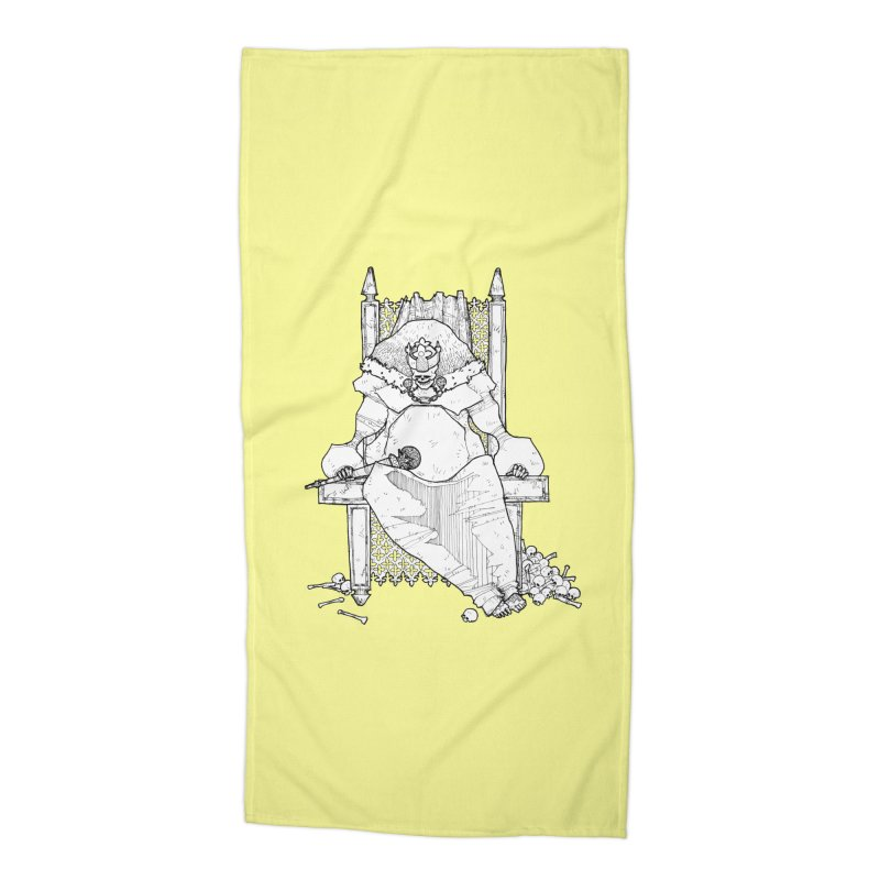 Fat King Accessories Beach Towel by Katiecrimespree's Ye Olde Shirt Shoppe