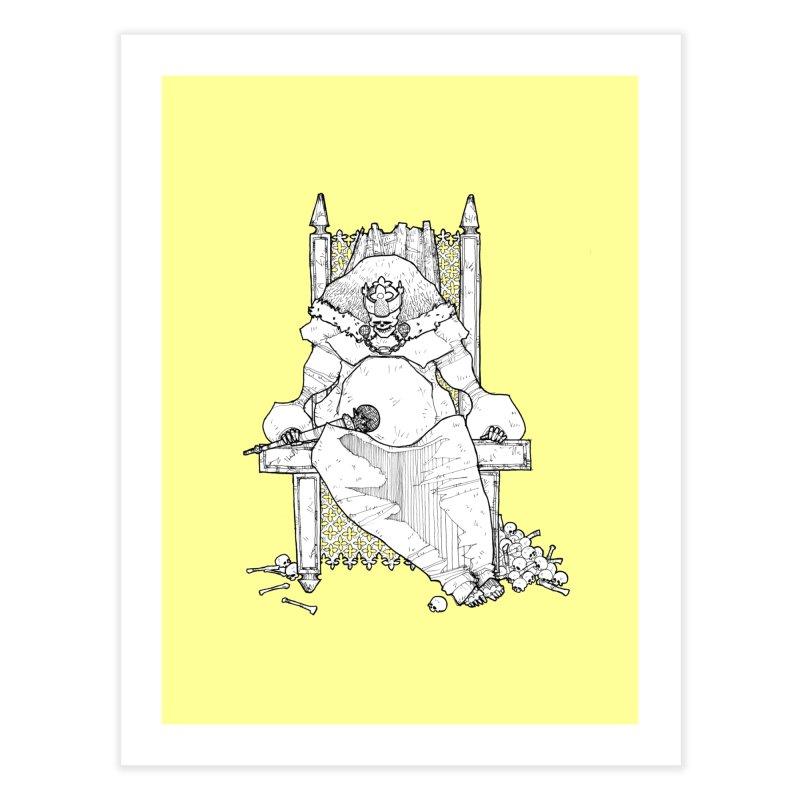 Fat King Home Fine Art Print by Katiecrimespree's Ye Olde Shirt Shoppe