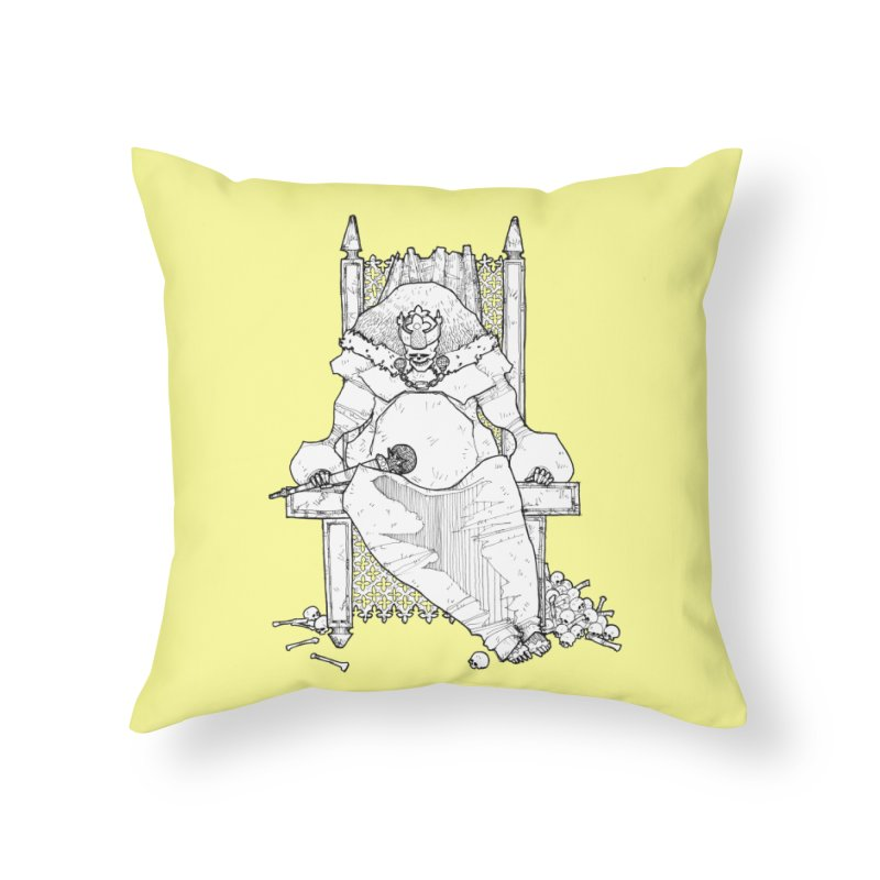 Fat King Home Throw Pillow by Katiecrimespree's Ye Olde Shirt Shoppe