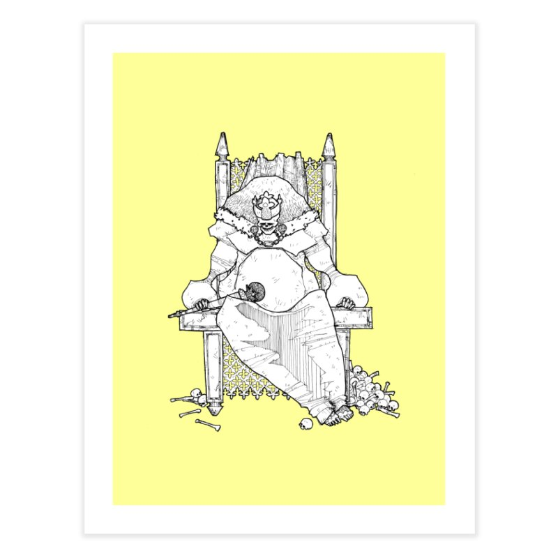 Fat King Home Fine Art Print by Katiecrimespree's Ye Olde Shirt Shoppe