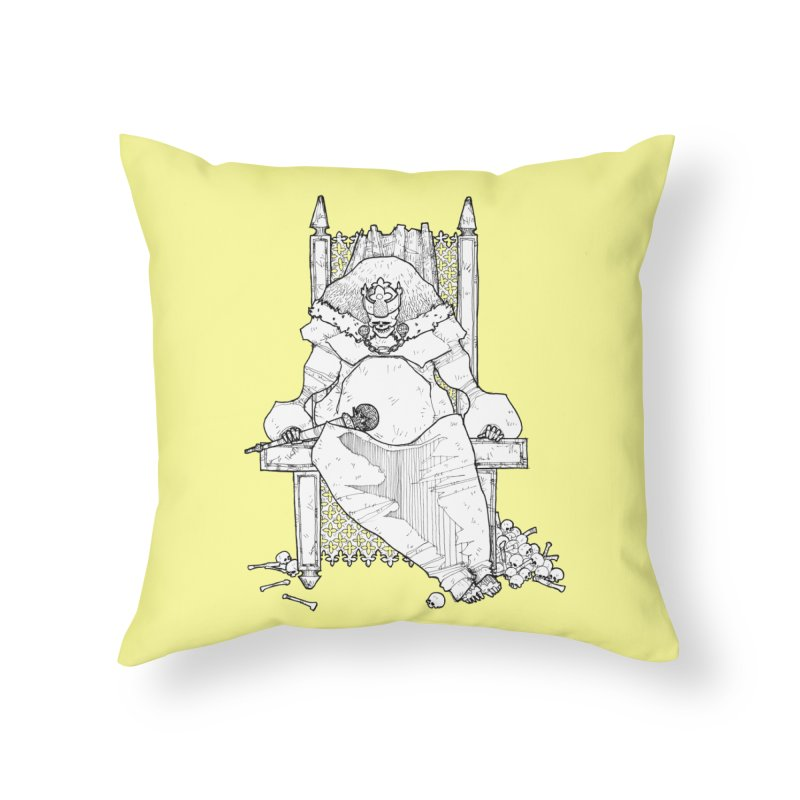 Fat King Home Throw Pillow by Katiecrimespree's Ye Olde Shirt Shoppe