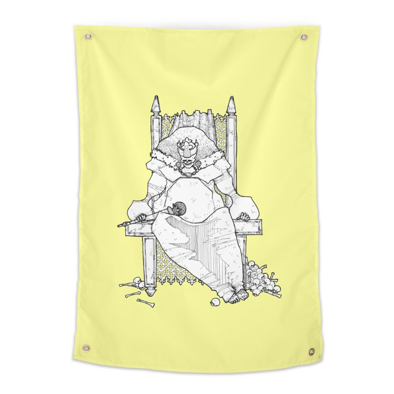 Fat King Home Tapestry by Katiecrimespree's Ye Olde Shirt Shoppe