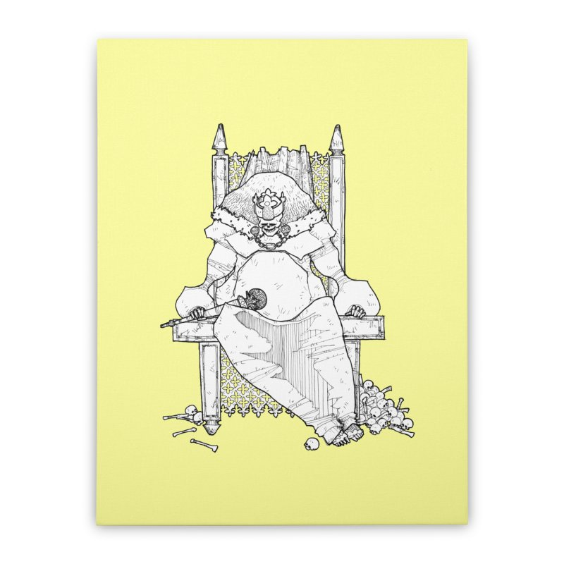 Fat King Home Stretched Canvas by Katiecrimespree's Ye Olde Shirt Shoppe
