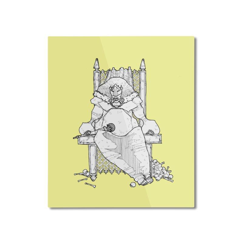 Fat King Home Mounted Aluminum Print by Katiecrimespree's Ye Olde Shirt Shoppe