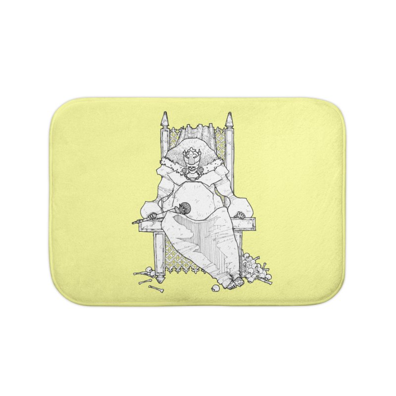 Fat King Home Bath Mat by Katiecrimespree's Ye Olde Shirt Shoppe