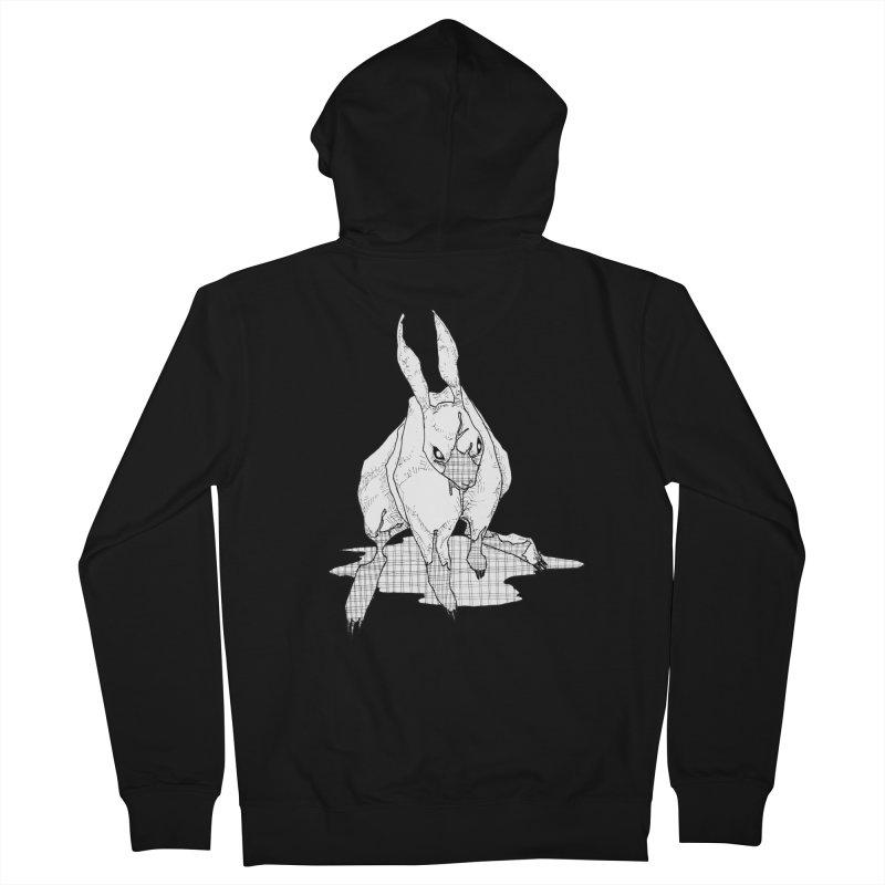 Bunny Hutch Men's Zip-Up Hoody by Katiecrimespree's Ye Olde Shirt Shoppe
