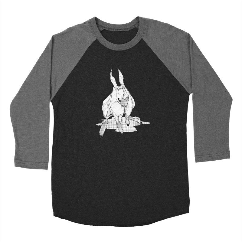 Bunny Hutch Women's Baseball Triblend Longsleeve T-Shirt by Katiecrimespree's Ye Olde Shirt Shoppe