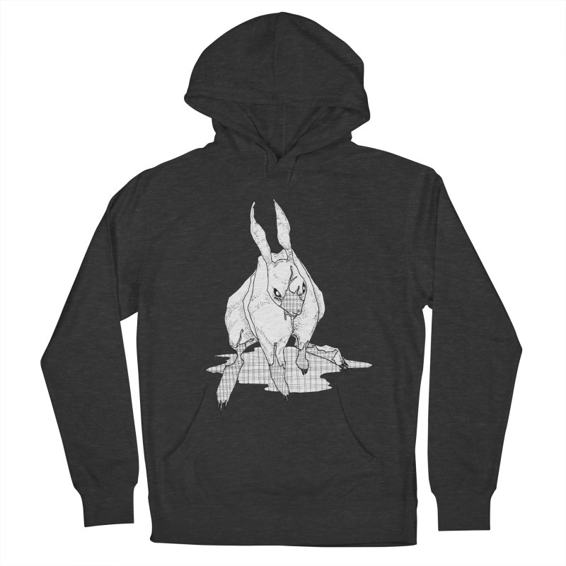 Bunny Hutch Men's French Terry Pullover Hoody by Katiecrimespree's Ye Olde Shirt Shoppe