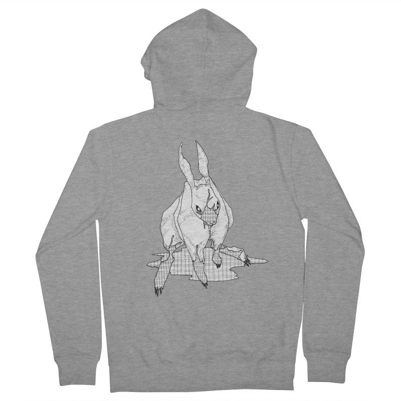 Bunny Hutch Men's French Terry Zip-Up Hoody by Katiecrimespree's Ye Olde Shirt Shoppe