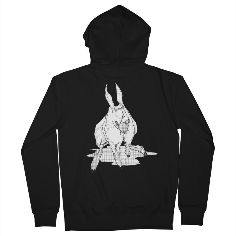 Bunny Hutch Men's French Terry Zip-Up Hoody by Katiecrimespree's Ye Olde Shirt Shoppe
