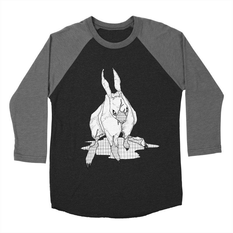 Bunny Hutch Men's Baseball Triblend Longsleeve T-Shirt by Katiecrimespree's Ye Olde Shirt Shoppe