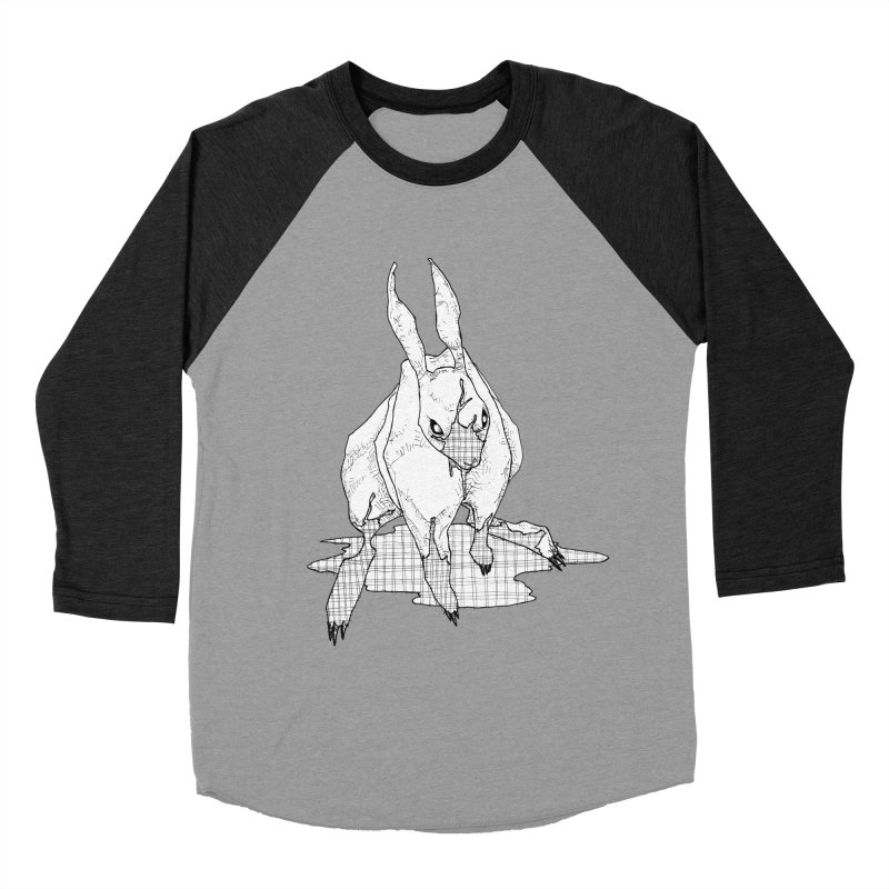 Bunny Hutch Men's Baseball Triblend T-Shirt by Katiecrimespree's Ye Olde Shirt Shoppe