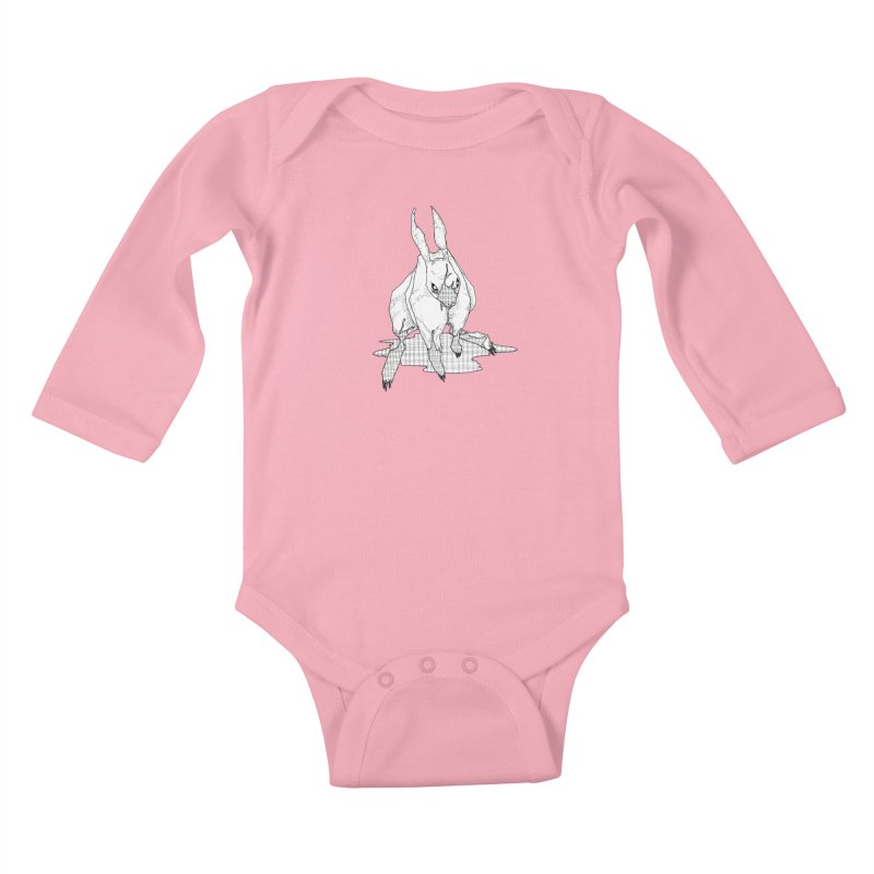 Bunny Hutch Kids Baby Longsleeve Bodysuit by Katiecrimespree's Ye Olde Shirt Shoppe