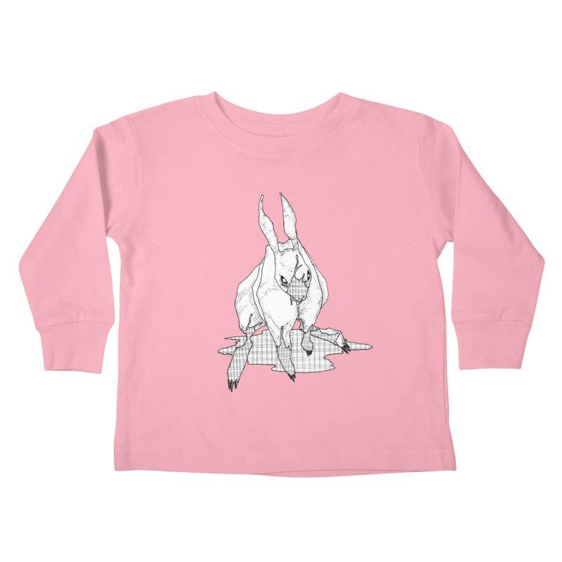 Bunny Hutch Kids Toddler Longsleeve T-Shirt by Katiecrimespree's Ye Olde Shirt Shoppe