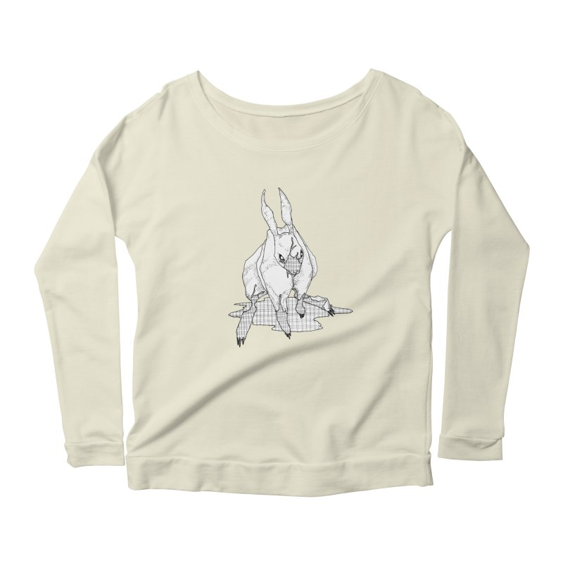 Bunny Hutch Women's Scoop Neck Longsleeve T-Shirt by Katiecrimespree's Ye Olde Shirt Shoppe