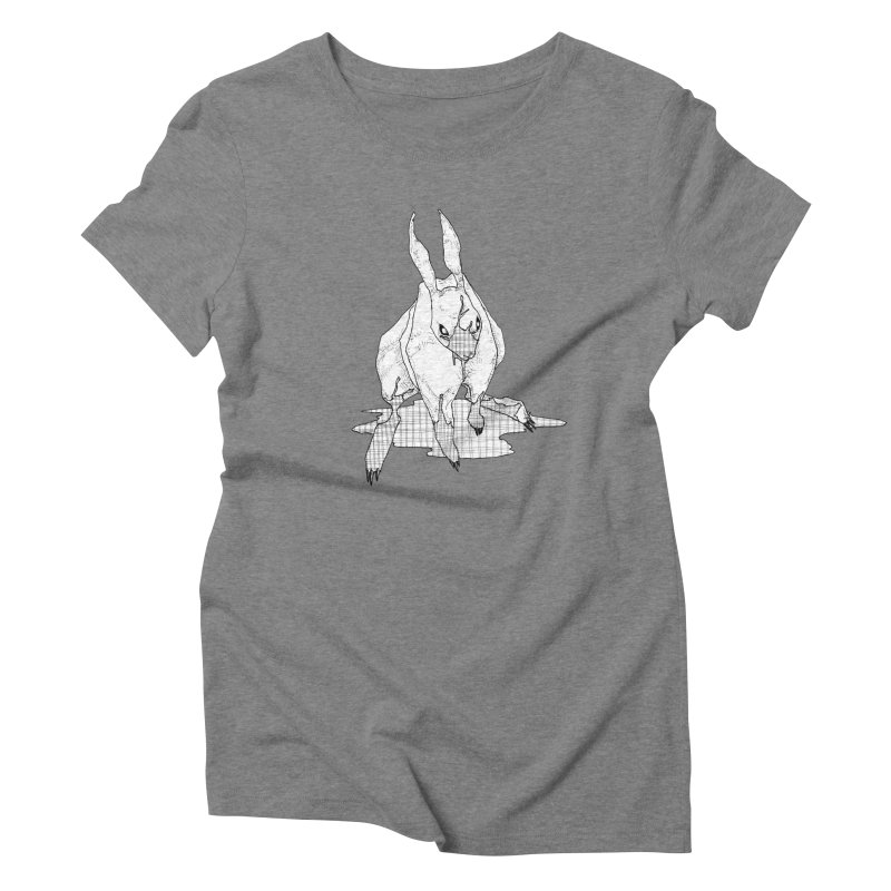 Bunny Hutch Women's Triblend T-Shirt by Katiecrimespree's Ye Olde Shirt Shoppe