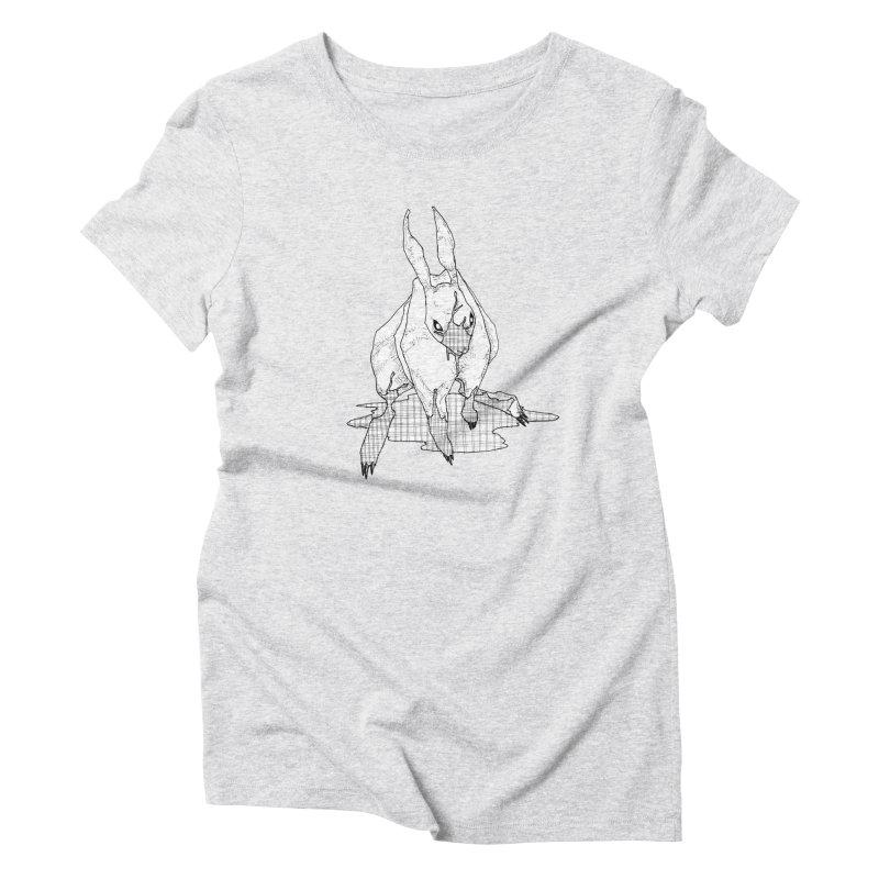 Bunny Hutch Women's Triblend T-shirt by Katiecrimespree's Ye Olde Shirt Shoppe