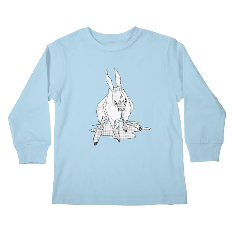 Bunny Hutch Kids Longsleeve T-Shirt by Katiecrimespree's Ye Olde Shirt Shoppe