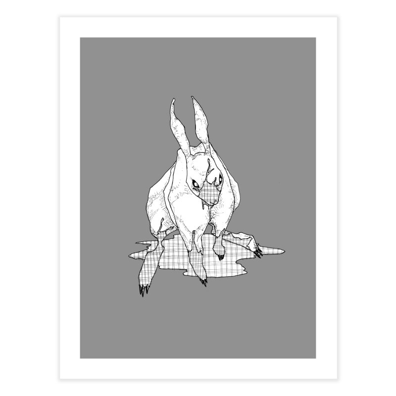 Bunny Hutch Home Fine Art Print by Katiecrimespree's Ye Olde Shirt Shoppe