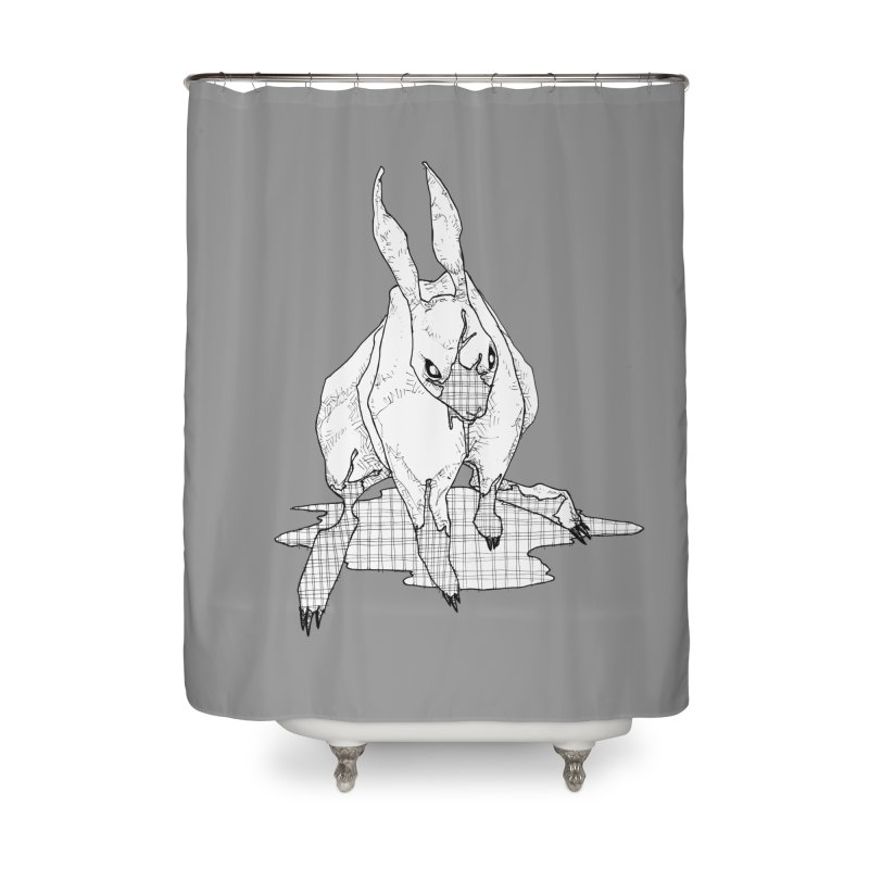 Bunny Hutch Home Shower Curtain by Katiecrimespree's Ye Olde Shirt Shoppe