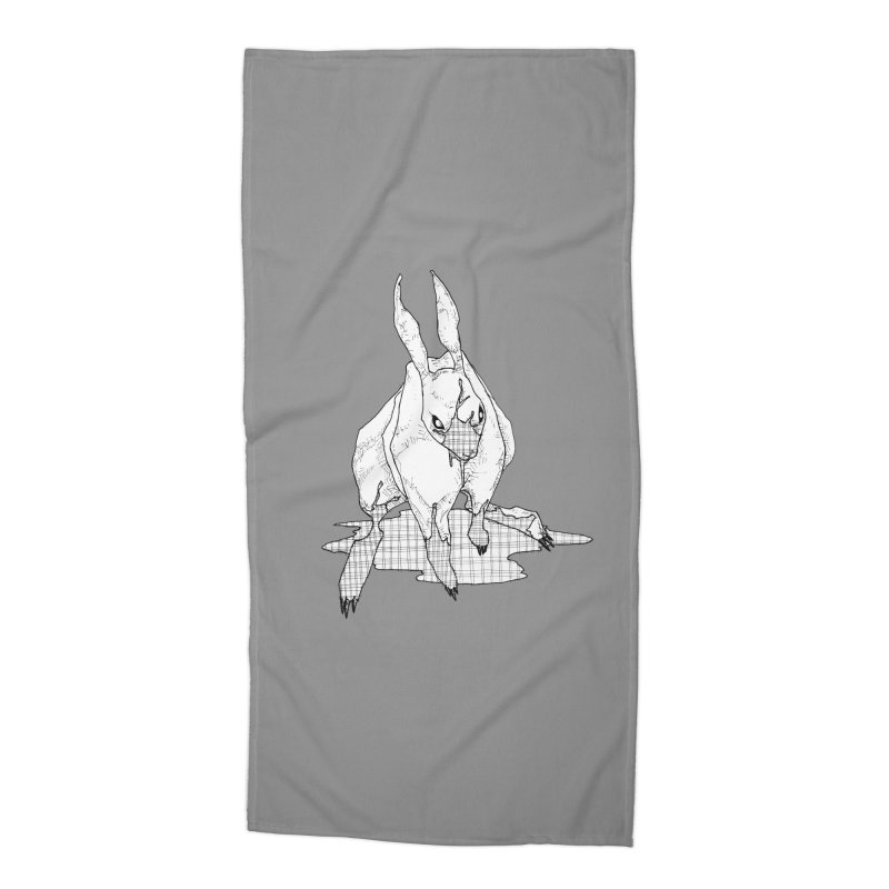 Bunny Hutch Accessories Beach Towel by Katiecrimespree's Ye Olde Shirt Shoppe