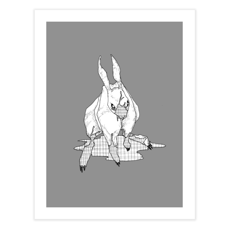 Bunny Hutch Home Fine Art Print by Katiecrimespree's Ye Olde Shirt Shoppe