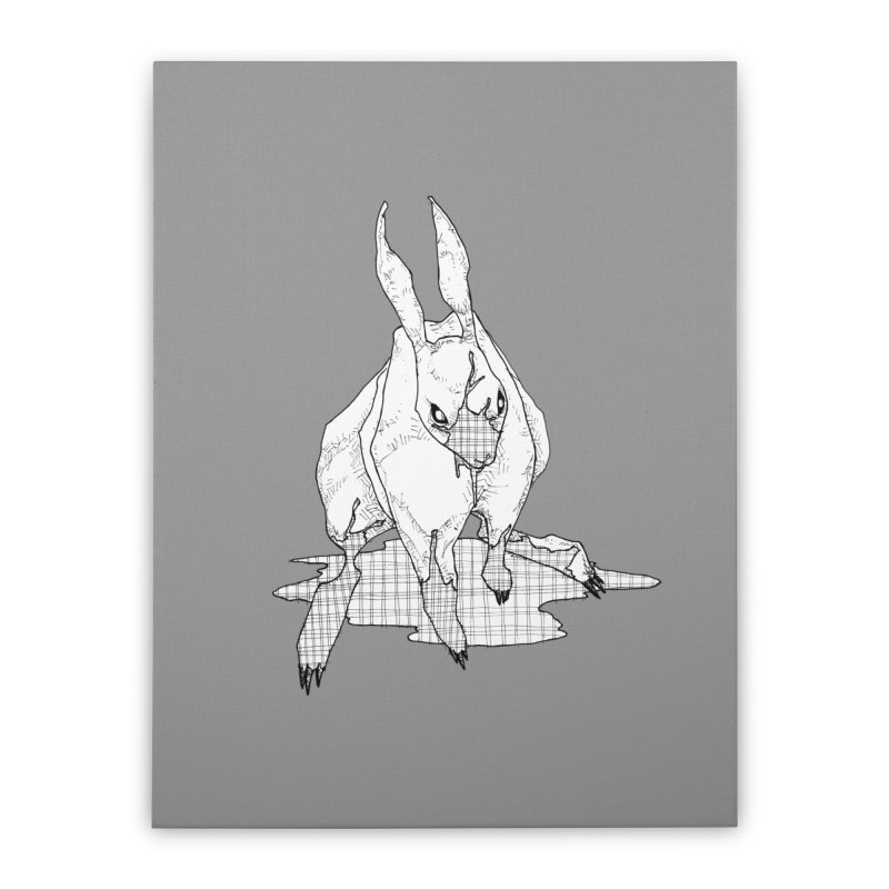 Bunny Hutch Home Stretched Canvas by Katiecrimespree's Ye Olde Shirt Shoppe