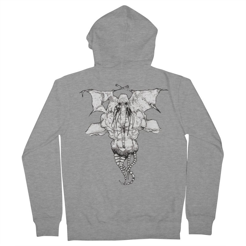 The Memory of an Elephant Men's French Terry Zip-Up Hoody by Katiecrimespree's Ye Olde Shirt Shoppe