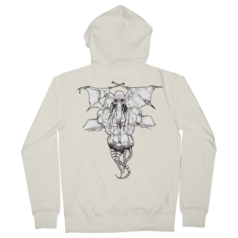 The Memory of an Elephant Men's Zip-Up Hoody by Katiecrimespree's Ye Olde Shirt Shoppe