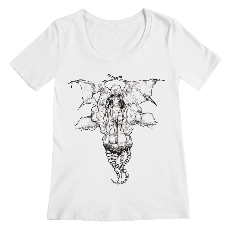 The Memory of an Elephant Women's Regular Scoop Neck by Katiecrimespree's Ye Olde Shirt Shoppe