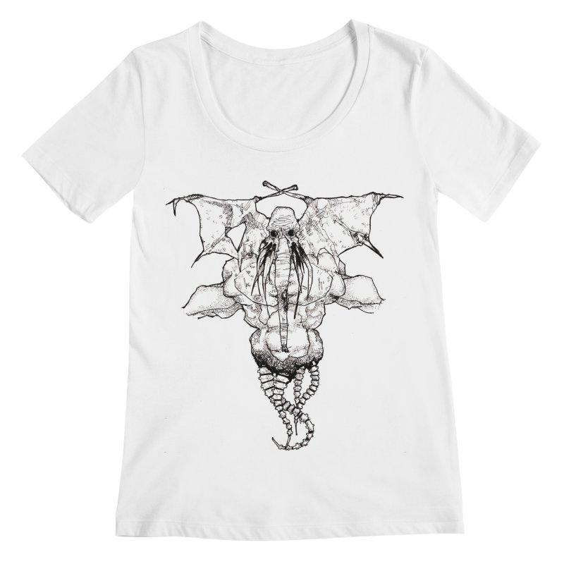 The Memory of an Elephant Women's Regular Scoop Neck by Katiecrimespree's Ye Olde Shirt Shoppe