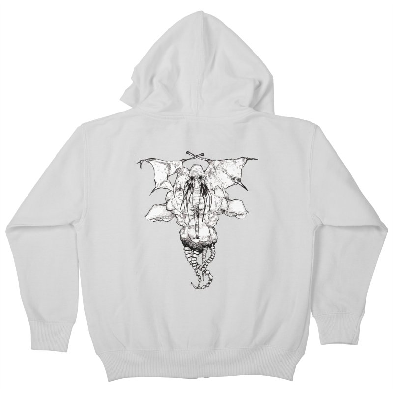 The Memory of an Elephant Kids Zip-Up Hoody by Katiecrimespree's Ye Olde Shirt Shoppe