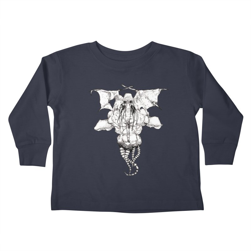 The Memory of an Elephant Kids Toddler Longsleeve T-Shirt by Katiecrimespree's Ye Olde Shirt Shoppe