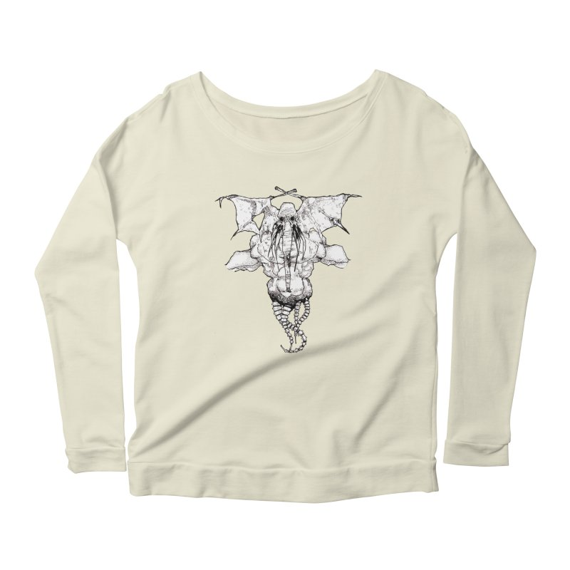 The Memory of an Elephant Women's Longsleeve Scoopneck  by Katiecrimespree's Ye Olde Shirt Shoppe