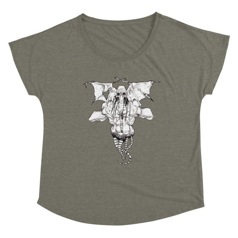 The Memory of an Elephant Women's Dolman Scoop Neck by Katiecrimespree's Ye Olde Shirt Shoppe